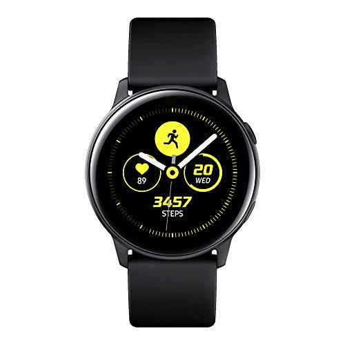 Samsung Galaxy Watch Active Smartwatch Bluetooth v4.2, 40 mm, con GPS, Sensore di Frequenza Cardiaca, Peso 25 g, Batteria 230mAh, Nero (Black) [Versione...