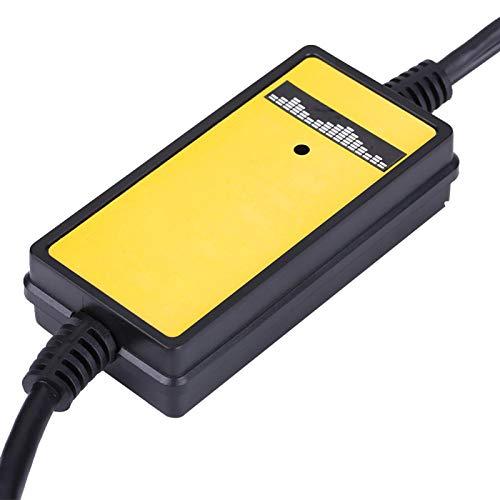 Interfaz MP3 para automóvil, adaptador de entrada auxiliar, fácil acceso Duradero Alta confiabilidad Materiales de alta calidad Camión Coche deportivo para conductor de automóvil