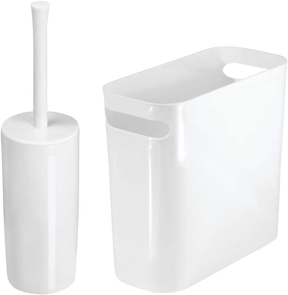 mDesign 2 Piece Ranking TOP20 Combo - Slim Plastic Trash Super sale period limited with Can Built-in Han