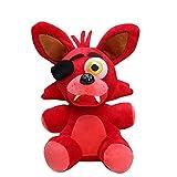 dqwer Juego De Anime FNAF Red Foxy Muñeco De Peluche 18Cm Kawaii Five Nights At Freddy'S Animal Suave Almohada De Peluche Muñeco De Peluche Regalo De Cumpleaños