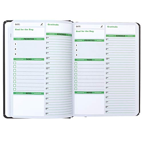 Sunnyside Undated Planner - Daily Organizer, Hourly, Day and Monthly Planner Full Size Non-Dated Calendar Journal for Appointments, Tasks, Goal Setting, Tracking Priorities and Gratitude Notes