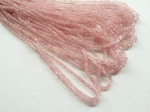GEMS-WORLD Beads Gemstone 1 Strand Natural Morganite Stone, Morganite Necklace, 3-4mm Each, 16 Inch
