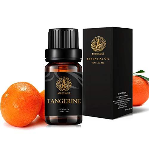 100% puro Mandarina aceite esencial para humidificador, 0,33oz-10ml aromaterapia Mandarina Fragancia aceite esencial para difusor, grado terapéutico mandarina aceites perfumado para masajes, Casa