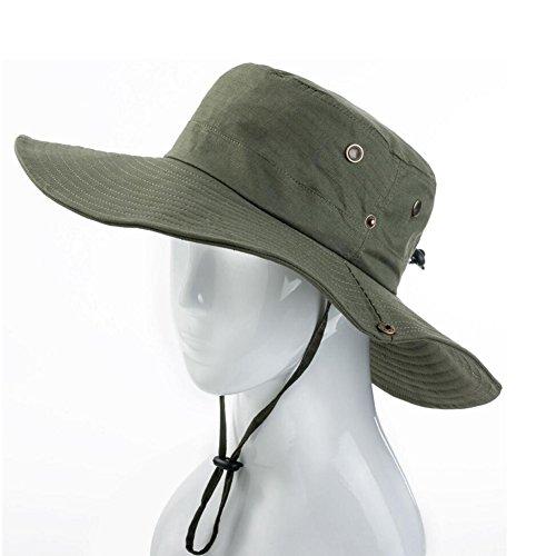 ZX Cappellini Cappello da Sole Militare Cappello Largo Tesa A Caccia Secchio Uomini Donne All'aperto Pesca Escursionismo Campeggio Giochi di Guerra ECCETERA Accessori (Colore : T4)