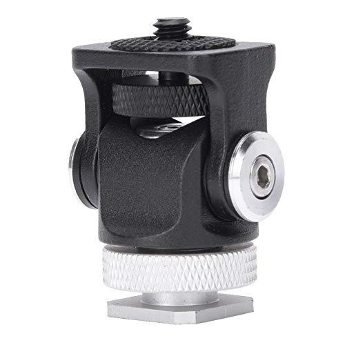Mini-flitsschoenadapter Camera Monitorbevestiging, montage-monitor Flitser Microfoonhouder Beugel met 1/4 inch schroef en houder voor microfoon