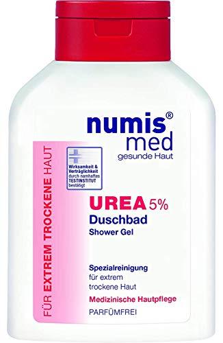 numis med Duschbad mit 5% Urea - Hautpflege parfümfrei & vegan - Duschgel für sensible, zu Neurodermitis neigende & trockene Haut - Showergel (1x 200 ml)