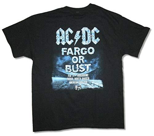 AC DC Fargo Event 2016 Rock Of Bust Frozen Logo Zwart T-shirt