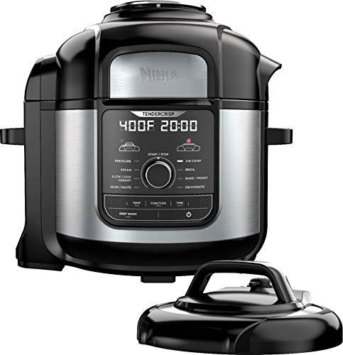 Ninja Ste Foodi 8qt. 9-in-1 Deluxe XL Pressure Cooker & Air Fryer-Stainless Steel/Black