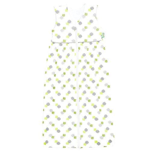 Odenwälder Jersey-Schlafsack Anni Pineapple Grey, Größe in cm:90 cm