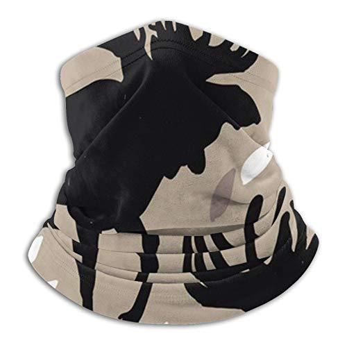 ZVEZVI Scaldacollo in Pile per Animali Adulti Stile Vintage Alce Uomo - Scaldacollo Antivento con Maschera per Il Freddo - Sciarpa per attività Invernali all'aperto
