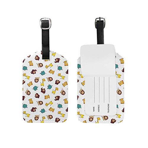 Watercolor MONKEY Simian Artistic Etichetta Per Borsa Da Viaggio Con Etichetta Per Bagagli In Pelle PU In Microfibra
