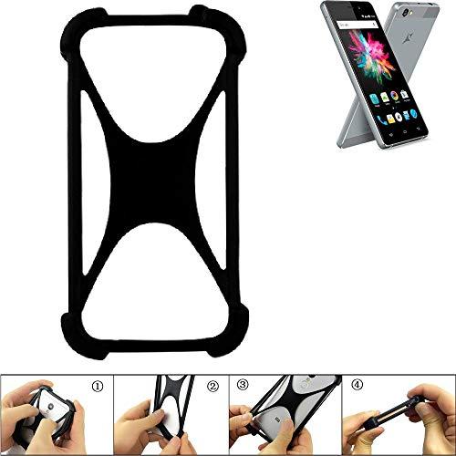 K-S-Trade Handyhülle für Allview X3 Soul Mini Schutz Hülle Silikon Bumper Cover Case Silikoncase TPU Softcase Schutzhülle Smartphone Stoßschutz, schwarz (1x)