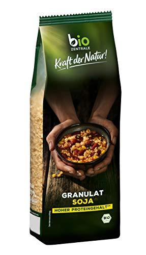 biozentrale Soja Granulat   3x 250 g   proteinreiche Fleisch-Alternative aus 100% texturiertem Bio-Sojamehl   vegan   einfach und vielseitig zuzubereiten