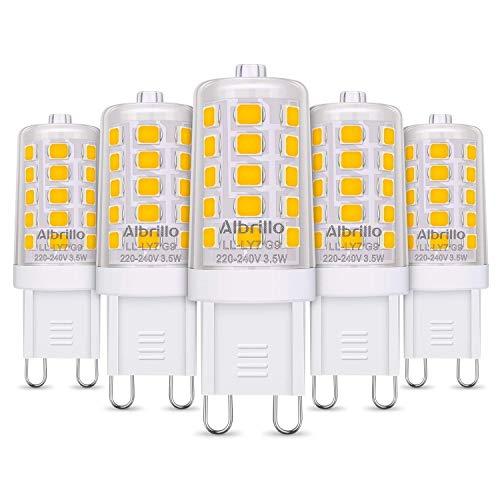Albrillo Bombillas LED G9 de 3.5W, 40 W Bombilla Halógena Equivalente