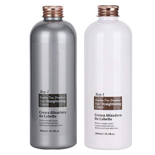 Crema hidratante para el cabello, Crema para alisar el cabello suave, Crema hidratante para el cabello de seguridad suave para hidratar y refrescar(Straightening cream)
