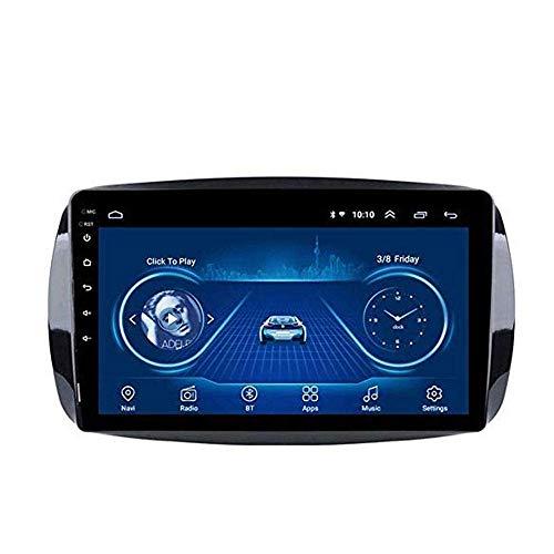 Android 8.1 Navegación Radio TV GPS pantalla táctil de 9 pulgadas para Mercedes/Benz Smart Fortwo 2016 – 2018, con DVD control de volante Bluetooth Mirror Link,4G + WiFi:2 + 32G