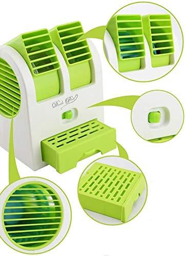 DABUTY ONLINE, S.L. Climatizador Portátil, Mini Ventilador Enfriador, 3 en 1 Espacio Personal Enfriador de Aire Humidificador y Purificador, para Hogar/Oficina/Sala/Viaje (Verde)