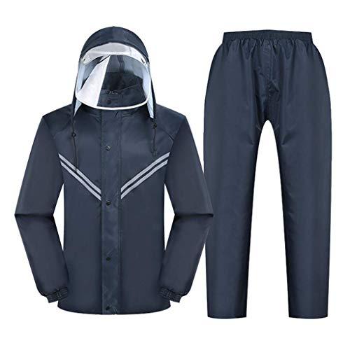 GR/Regen-Gang-Motorrad-Regen Jacke und Regen Hosen Set 2 Stück Regen Anzüge for Männer Arbeiten im Freien Golf Angeln Wandern (Color : B, Size : XX-Large)