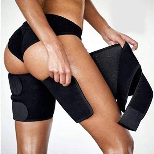 Wopohy Oberschenkel Bandage Unisex Beine Fitnessgürtel Schwitzgürtel für Beinformung