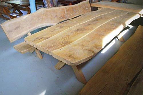 Sitzgarnitur Rittertafel 5- teilig | Eiche | Gartenmöbel Set aus Holz | Gartentisch | Gartenbank | rustikal & massiv I Sitzgruppe I Made in Germany I Outdoormöbel