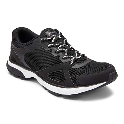 Vionic Women's Drift Tokyo Leisure Sneakers - Supportive Walking Shoes That Include Three-Zone Comfort with Orthotic Insole Arch Support, Sneakers for Women, Active Sneakers Black/Black 9.5 Medium US
