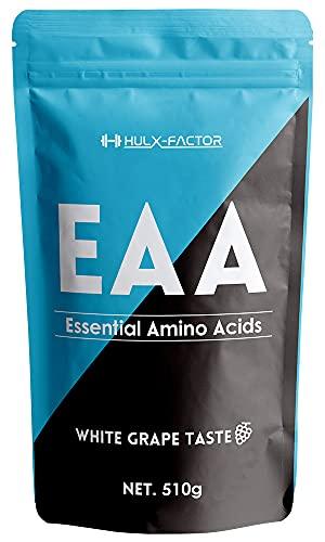 [白ぶどう味] 必須アミノ酸 サプリ EAA 415430mg ハルクファクター 510g 53食分 パウダー 国産