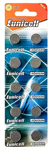 2 X 10 X AG13 LR44 Button Cells Batteries - A76 L1154 SR44 G13 357 - 1.5V by Eunicell