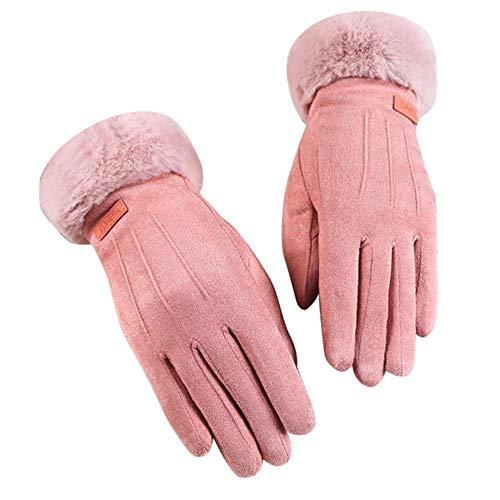 Houer Vrouwen Winter Thermische Handschoenen Unisex Vintage Effen Bont Twist Handschoenen Wol Vrouwen Winter Warmhouden Handgeschenken Wanten, E, China
