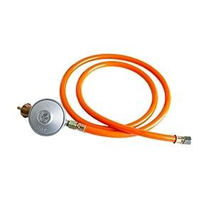 Gas Gas Grill Cocina de gas reductor de presión 50 mbar y 1,5 m de manguera