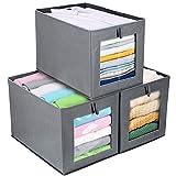 3 Cajas de almacenaje Plegable, Cubos de Almacenamiento con Ventana...