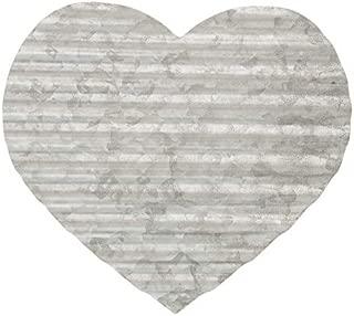 Everydecor Corrugated Galvanized Metal Heart Wall Decor