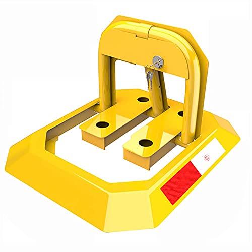 Cerradura de Estacionamiento Plegable con Cerradura, Pila de Advertencia de Seguridad de Metal Pesado, Interceptor para Espacios de Estacionamiento Privados/amarillo / 46×55×30cm