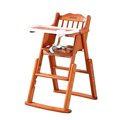 NMDD Trona, Mesa y sillas de Comedor para niños, Mecedora Plegable para bebés, Madera Maciza, hogar