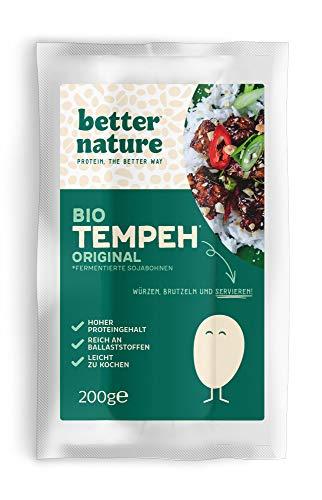 Better Nature vegane 100% BIO Fleischalternative aus Tempeh von Sojabohnen – 5x 200g Packungen leckere pflanzliche alternative zu Fleisch mit vielen Proteinen und Ballaststoffen