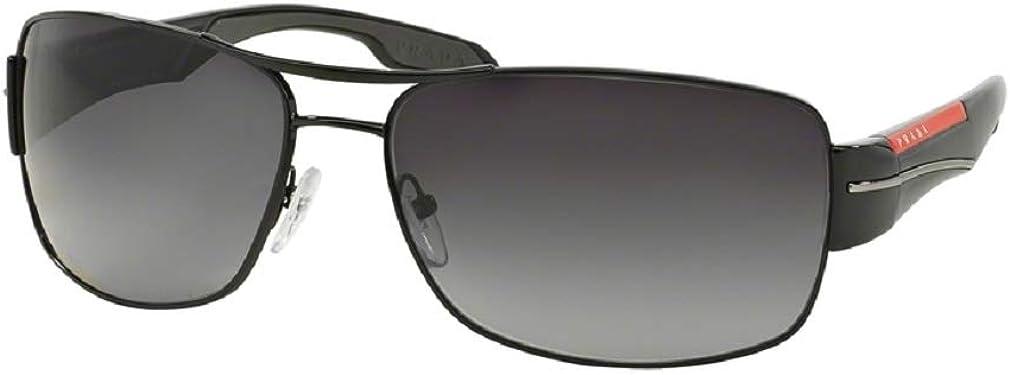 Prada PS53NS Rectangle Sunglasses For Men+FREE Complimentary Eyewear Care Kit