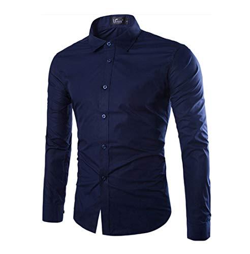 Herren Funky Floral Checked Shirt Lässiges Langarmhemd Button Langarmhemden Printed T-Shirt Kariertes Einfarbiges Hemd,C,3XL