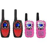 Retevis RT628 Kids Walkie Talkies 22 Channel with RT-388 Walkie Talkies for Girls 2 Way Radio Bundle(4 Pack)
