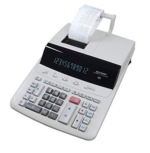 Sharp Druckender Tischrechner CS-2635RHGYSE (12-stellig, schwarz rote Druckfarben) grau