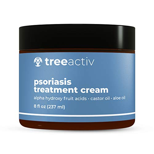 TreeActiv Psoriasis Treatment Cream, Maximum Strength, Moisturizing Ointment for Dry Skin, Natural, Calming, and Hydrating Itch Relief Moisturizer for Face and Body 8 fl oz (237 ml)