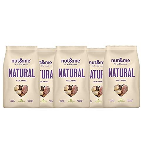 Nueces de Brasil 100% Natural nut&me l 875 gr   Rico en fibra   Sin Gluten   Vegano   Sin conservantes   Pack 5 unidades (175g/unidad)