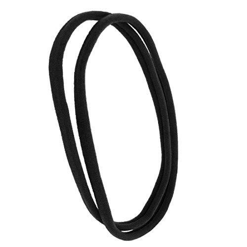 1141-001 - Set 2 pezzi fasce per capelli Unisex cm 1 in filanca made in Italy - colore nero