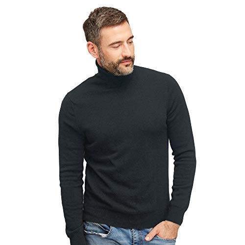 Coltrui pullovers heren 100% wol kleur donkergrijze