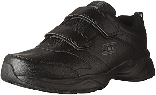 Skechers Haniger-Casspi, Zapatillas Hombre, Negro (BBK Black Leather/Trim), 44 EU