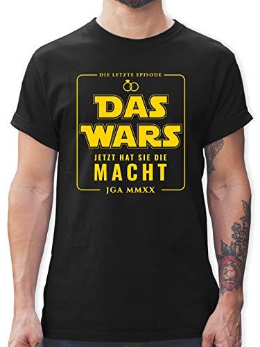 JGA Junggesellenabschied - Das Wars JGA 2020 Jetzt hat sie die Macht - XL - Schwarz - L190 - Tshirt Herren und Männer T-Shirts