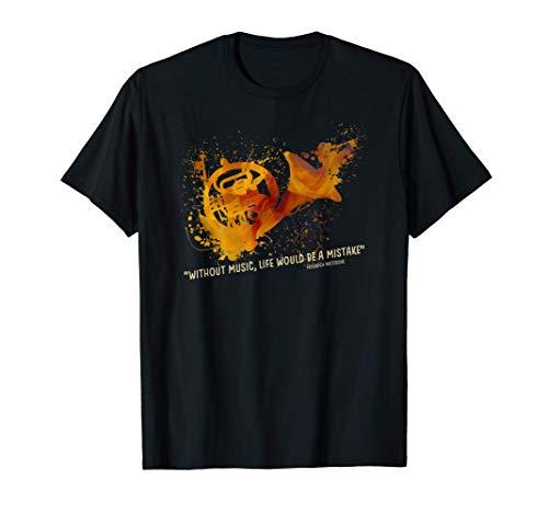 Cita de músico con trompa francesa Camiseta