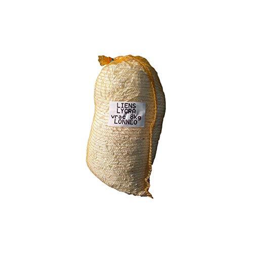 Lien Ruban Type Lycra Extensible Blanc Sac de 8kg