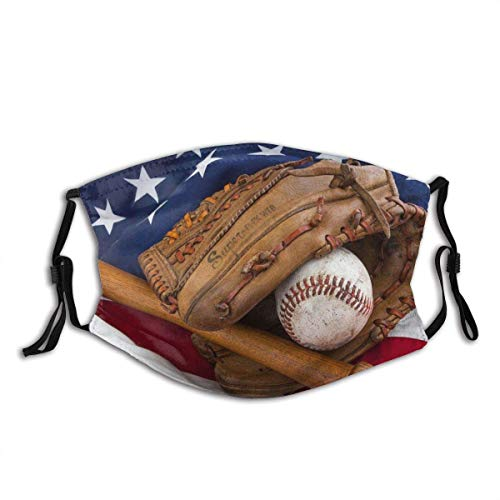 Lovely Baseball Face Mask Personality Baseball Dustproof Scarf Washable& Reusability Distinctive