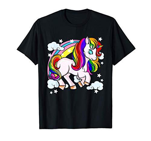 Unicornios lindos arcoiris Camiseta