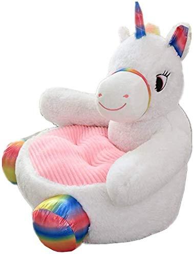 ZZYOU Kind Sessel Sofa Einhorn Kissen Karikatur Tier Stuhl Zuhause Dekoration Kinder Zimmer Möbel (Neues-Einhorn)
