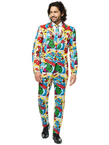 Opposuits Superhero Anzug für Herren besteht aus Sakko, Hose und Krawatte - Harry Potter, The Joker, Dark Knight, Spiderman & Marvel, Marvel Comics, 50